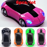 car shape wireless mouse - 6pcs New G Car Shape Wireless Optical Mouse Mice For Laptop PC USB Receiver Colors SV006287