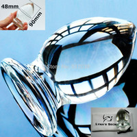 Wholesale 48mm Large Big size pyrex glass Anal butt plug Crystal dildo bead Sex toys for women men Adult products Female male masturbation