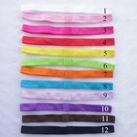 foe - AHO154 Colors Elastic FOE Headbands for Baby Girls DIY Hair Accessory Satin Stretchy Hairbands Headwear