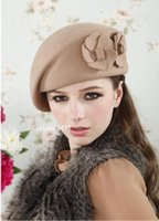 Wholesale Hot new wool beret lovely ladies fashion hat Ms warm autumn winter hat shading Women s comfortable Solid Color hat