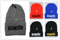 homies - women crochet caps unisex knitted fitted hat hip hop hat Homies Beanie Snapback Hats Football Skullies Wool Winter Warm Knitted Caps D1815