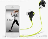 Cheap QY7 Wireless Bluetooth 4.1 Stereo Earphone Fashion Sport Running Headphone Studio Music portable Headset with Mic retail box