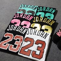 Wholesale Men sport brand jordan t shirt women casual short sleeve tee shirts tshirt homme couple clothes hip hop camisa masculina