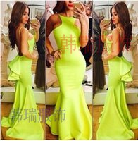 Cheap 2015 Sexy Hot Sell Women Mermaid Backless Evening dress Bridesmaid Gowns Prom Formal flounced Dresses ball In Stock Real Picture