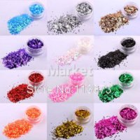 Wholesale 12 Colors High Quailty Nail Art Glitter Shine Acrylic Powder Fine Dust Set acrylic nail art powder