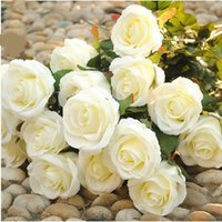 artificial christmas flower - Artificial Rose Silk Craft Flowers Real Touch Flowers For Wedding Christmas Room Decorations Wedding Home Decorative Flower