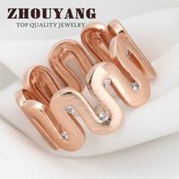 al por mayor al por mayor de hilo de oro de 18 quilates-De alta calidad de diseño de alambre de alambre proceso de 18K oro plateado Ring austríacos cristales tallas llenas al por mayor ZYR372 ZYR373