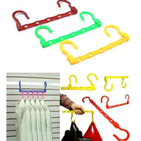 Wholesale 2016 new Organization Home Storage Hanger Drying rack Magic five holes wind drying rack hanger plastic multifunction