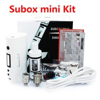 bell kits - Hot sell kanger subox mini starter kit vaporizers starter kit vs evic vt full kit subtank mini bell cap clone high quality DHL