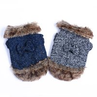 Wholesale wool like dog winter coat flleece inside with faux fur puppy coat dog winter puppy clothes colors mixed