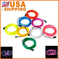 Wholesale US Stock to USA Fast Delivery Optional Color Flexible Neon Light EL Wire M el wire Multi with Controller
