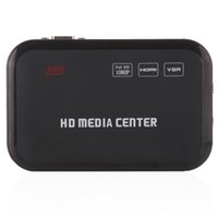 Wholesale New P Media Player Center RM RMVB AVI MPEG Multi Media Video Player with HDMI YPbPr VGA AV USB SD MMC Port Remote Control V484