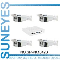 Wholesale SunEyes SP PK1842S P HD CH IP Camera NVR kit with MP HD IP Camera with SONY Sensor and one MINI NVR