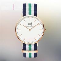 Wholesale 2015 new Top Brand Luxury Style Daniel Wellington Watches DW Watch For Men Nylon Strap Military Quartz Wristwatch Clock Reloj hombre mm