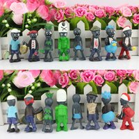 resin figure - 8Pcs set Plants vs Zombies PVC Action Figures PVZ Resin material Collection Figures Toys GiftS
