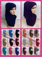 Wholesale tt185 assorted colors fashion two pieces women muslim hijab hat cap