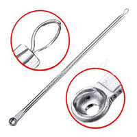 Wholesale Cosmetic Tool Silver Blackhead Comedone Acne Blemish Extractor Remover