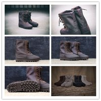 Wholesale 2016 Original Kanye West Unisex Men And Women Flat Boot Boost Peyote AQ4828 Size Euro