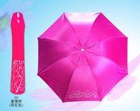 Wholesale Rose Creative Folding Umbrella Anti UV Shade New Windproof Clear Rain Charm Compact Light Gift Lady Fashion