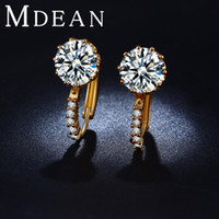 Wholesale 18K Gold Plated CZ diamond AAA Hoop Earing Engagement Classic Brincos Bijoux Jewelry Earrings for women ME024