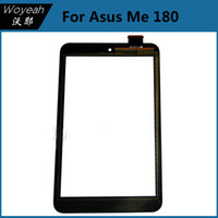 asus front panel - For Asus ME180 Touch Screen Front Lens Black Touch Screen Panel Digitizer Glass Lens Repair Parts Replacement