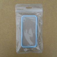 Wholesale Retail Packaging Bag Cell Phone iPhone Case Plastic Clear Packing Bags Zipper Zip Lock Hang Hole Package Pouches for Electronic Accessories