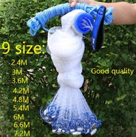 Wholesale Cast net diameter M plus size American hand cast net cm mesh High quality throw fishing net tool outdoors Sports Products