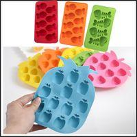banana bars - Novelty Silicone Fish Bone Apple Banana Shape Design Frozen Ice Maker Mould Cube Tray Bar Party Mold DHL