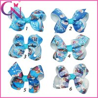 Wholesale Big Hair Bows Baby froze Headbands BABY Boutique Hair Bow Girl Bowknot Headwear Headbands Kids Hair decoration Children s Hair Accessories