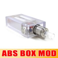 china direct - New ABS box mod New acrylic mechanical mod from China acrylic mod whit e cigarettes factory Direct Selling Top Seller Churchill