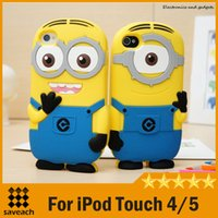 Wholesale 2015 Minions Movie D Despicable Me Soft Silicone Case Cover Minions iPod Touch Cartoon iPod Case High quality
