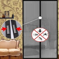 Wholesale Anti Fly Bug Mosquito Door Hands free Magic Mesh Magnetic Netting Screen Net on the Doors Window Mosquitos Curtain Curtains