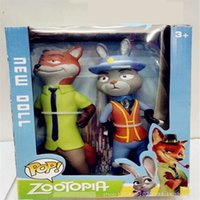 Wholesale 2016 new cm Zootopia Cartoon Utopia Action Figure Movie pvc models big Zootopia Anime Nick Fox Judy Rabbit Kids toys for girls