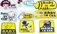 road safety material - Universal Safety Car warning Stickers Tail Car Labels Baby in Car Baby on Road Mama in Car Tail funny cute Stickers Labels DECALS STICKERS