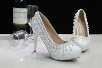 beautiful shoes - 2015 New Fashionable Luxury White Wedding Women Shoes With High Heels Beading Match All Beautiful Bride Dresses For A Romantic Unique Prom