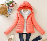 Wholesale 8 color upgrade edition super warm winter parka jacket coat ladies women jacket Slim Short padded women