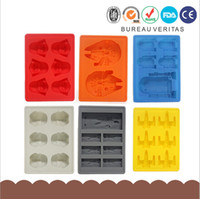 Wholesale Personalized Fighter Star Wars Silicone Ice Cube Chocolate Ice Lattice Mold Kitchen Tool IT013