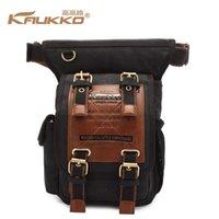 Wholesale Vintage Men Boys Canvas Single Shoulder Crossbody Bag Belt Rucksack Travel Backpack Sling Bag Motorcycles Fashion Waist