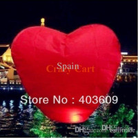 Opp Bag Party Supplies Glossy Version Wholesale 10psc Red Heart Sky Lanterns Chinese Wishing Lantern Classic Toys Balloon Shape Free Shipping