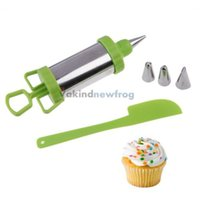 Wholesale V1NF Icing Piping Syringe Set with Stainless Steel Nozzles for Cake Decor New