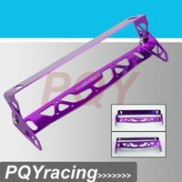 Wholesale J2 RACING STORE MUGEN CAR UNIVERSAL ALUMINUM LICENSE PLATE FRAMES FRAME TAG HOLDER FOLDABLE PQY LPF71 Red Blue Purple Black