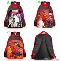 Wholesale 2015 new Big Hero kids school bag childrens backpack Shoulder Mochila School bag Kids