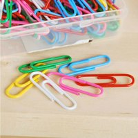 Wholesale 100 Pieces a Set Box Office Supplies Colored Paper Clips