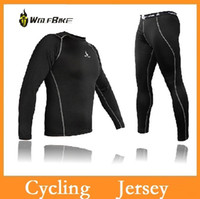 Wholesale High quality WOLFBIKE Cycling Jersey Shirt Bike Bicycle Baselayer Underwear Suit Long Sleeve Jersey Winter Sports Clothes Dropshipping