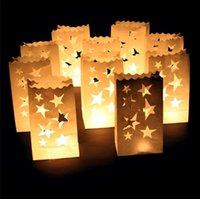 La vela de papel ignífuga empaqueta para el día de la boda / del cumpleaños / del partido / de la Navidad / de la tarjeta del día de San Valentín, bolsos de la vela de la luminaria Envío libre