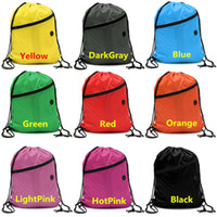 Wholesale New Arrivals Girls Boys Women Men Outdoor Packs Stuff Sacks Backpack Polyester Drawstring Size CM Swim Sports BX205