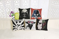 Wholesale 10 styles Star Wars Pillow Covers Cartoon Minions Cushion Covers Linen Valentine Pillow Case Pillow Cases Decoration Kids Gift E341J