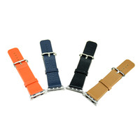 Wholesale new mm mm Leather Iwatch Band watchband watch strap With Adapter Brown Brown Black Blue Orange