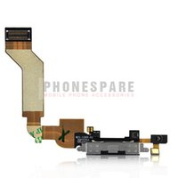 Wholesale 10pcs For IPhone G S Dock Connector Charging Charger Port Flex Cable Ribbon Replacement black and white