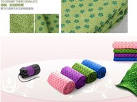 Wholesale 10pcs DHL Health Care Skidless Yoga Towel Yoga Mat Non slip Yoga Mats for Fitness Yoga Blanket